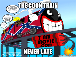 coon train never late